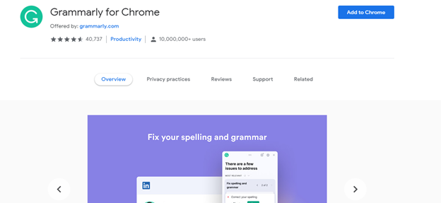 Enable Grammarly in Gmail